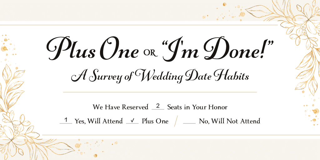 Title image for a survey on wedding date habits